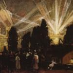 <em>Searchlights on the Hudson</em>, 1915