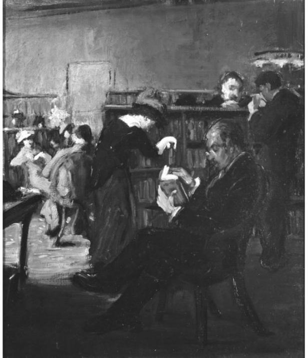 New york public library interior ca 1918