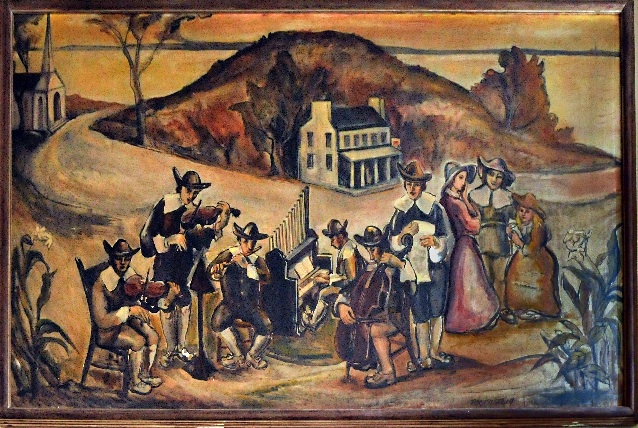 The First Orchestra of America, 1938. Mural in the Manheim, PA, Post Office