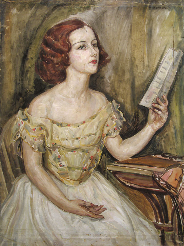 Young singer (madeline smith) , 1925