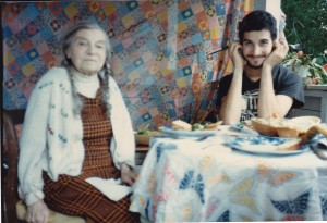 Theresa Bernstein and Keith Carlson in Gloucester, 1983