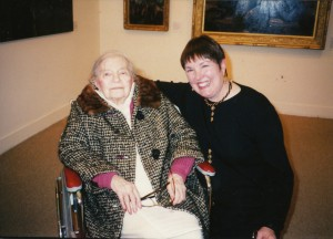 Theresa Bernstein & Patricia Burnham at the Philadelphia Museum of Judaica, 1995