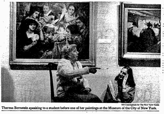 Theresa Bernstein and Gail Levin, New York Times, Feb. 17, 1991